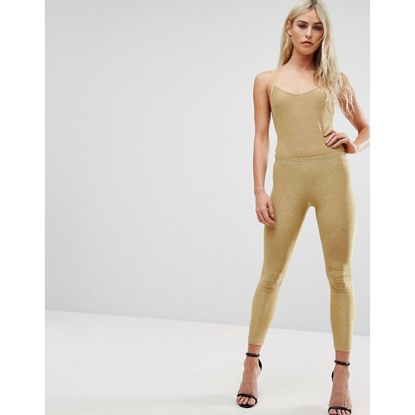 "CLUB L All Over Metallic Jersey Legging - """"Leggings by Club L, Metallic knitted fabric, Low-rise..."