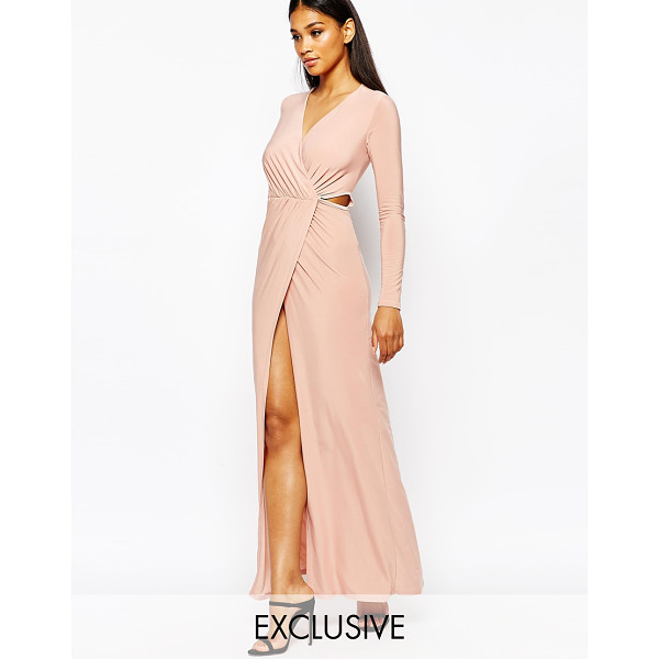 CLUB L Cross front plunge maxi dress - Maxi dress by Club L Smooth knitted fabric V-plunge...