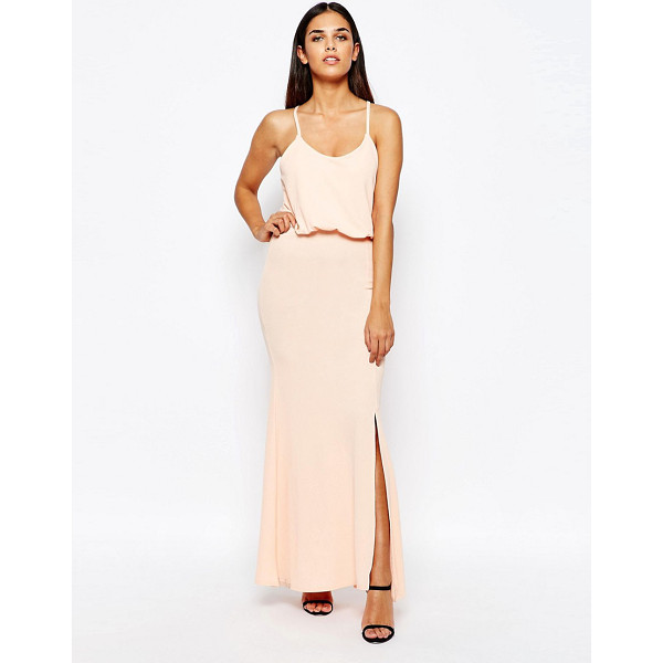 CLUB L Maxi Dress With Cross Back - Maxi dress by Club L, Soft-touch jersey, Scoop neckline,...