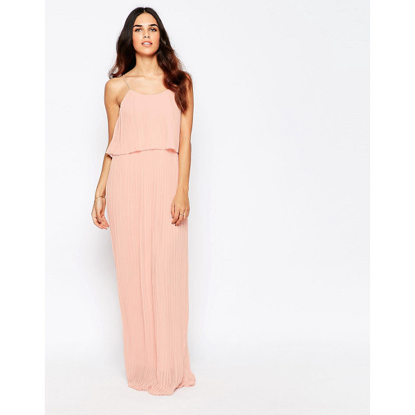 CLUB L Pleated Overlay Maxi Dress - Maxi dress by Club L, Lined chiffon, All-over pleats, Scoop...