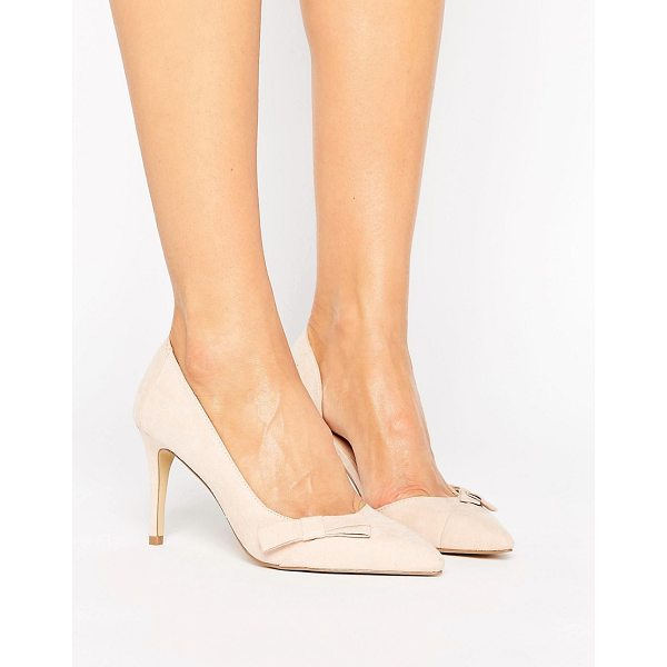 COAST Blush Bow Court Evening Shoe - Heels by Coast, Faux-suede upper, Part leather lining,...