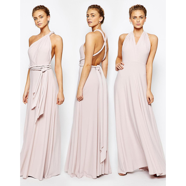 COAST Corwin V Neck Multiway Maxi Dress in Blush - Maxi dress by Coast, Smooth fabric, Fully lined, Comes with...