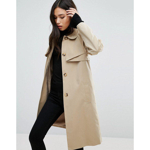 "COOPER & STOLLBRAND Cooper & Stallbrand Folded Trench Coat - """"Coat by Cooper Stallbrand, Woven cotton canvas, Fully..."