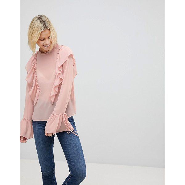 COTTON CANDY LA Frill Detail Top - Top by Cotton Candy, Some serious daytime inspiration right...