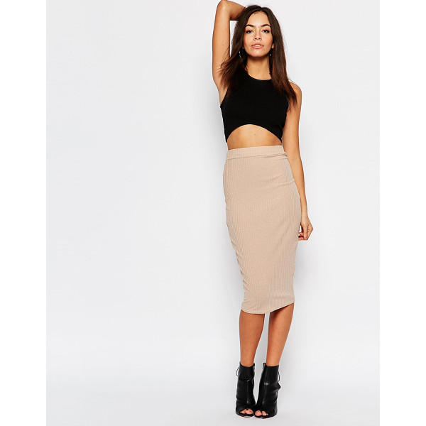 DAISY STREET High waisted pencil skirt in rib - Skirt by Daisy Street, Ribbed jersey, High waist, Stretch...