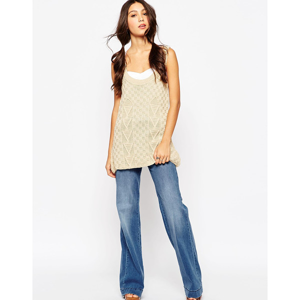 DAISY STREET Knitted tank tunic - Tunic by Daisy Street Textured knit Scoop neckline Ribbed...
