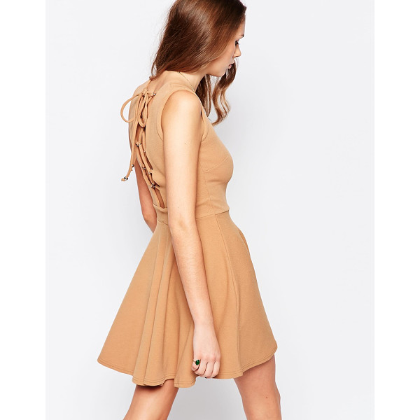 DAISY STREET Skater dress with lace up back - Casual dress by Daisy Street Lightweight crepe Added...