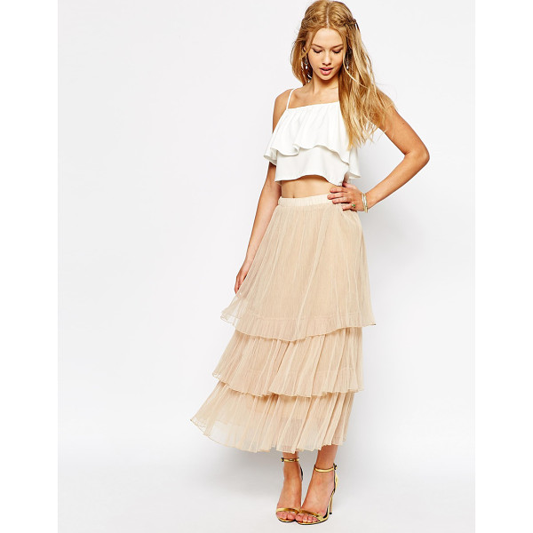DARCCY Boho tulle layered maxi skirt - Maxi skirt by Darccy Tiered tulle Fully lined Mid-rise,...