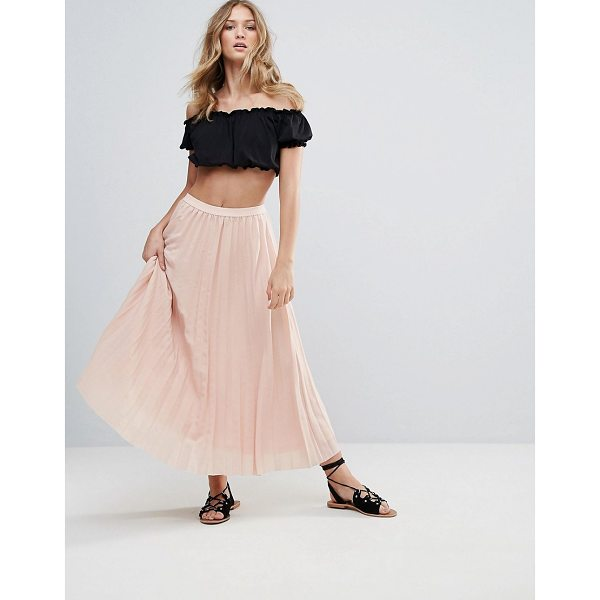 """DEBY DEBO 123 Pleated Maxi Skirt - """"""""Skirt by Deby Debo, Woven fabric, Pleated finish, Mid..."""