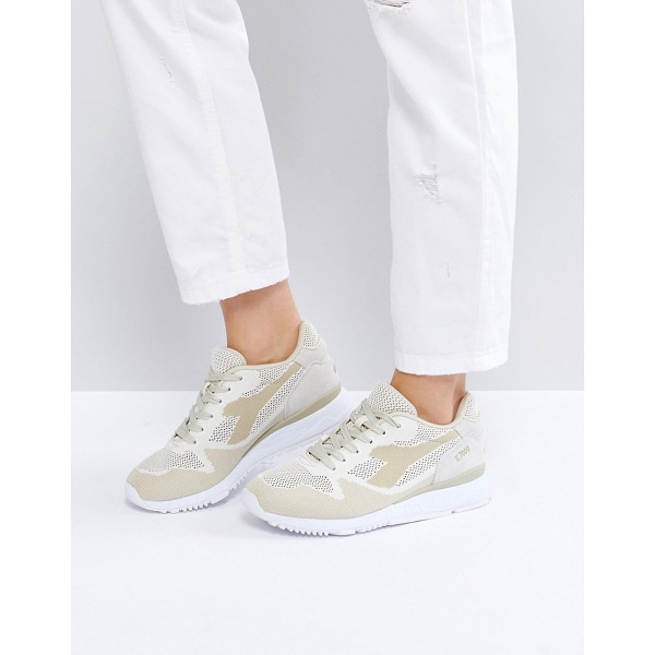 DIADORA Titan Weave V7000 Sneakers In Beige - Sneakers by Diadora, Textile upper, Lace-up fastening,...