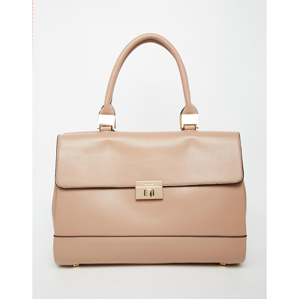 DUNE Smooth tote bag - Cart by Dune Leather-look Fold over flap with twist lock...