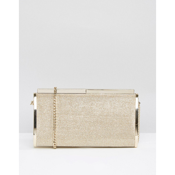 DUNE Bronze Clutch Bag - Clutch bag by Dune, Shimmer lurex outer, Fully lined, Chain...