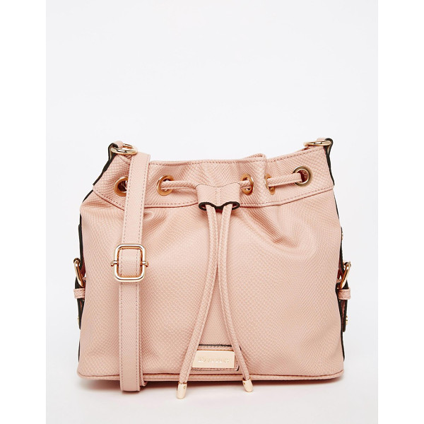 DUNE Bucket bag - Cart by Dune Faux leather outer Textured design Drawstring...