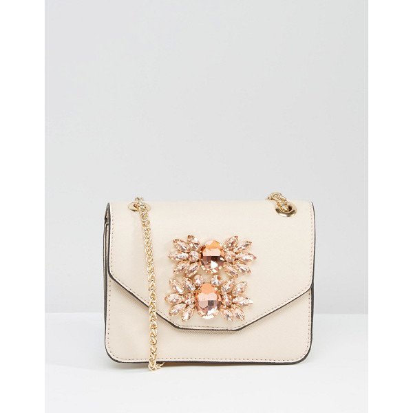 DUNE Envelope Micro Bag With Embellishment - Cart by Dune, Faux-leather outer, Chain body strap, Crystal...