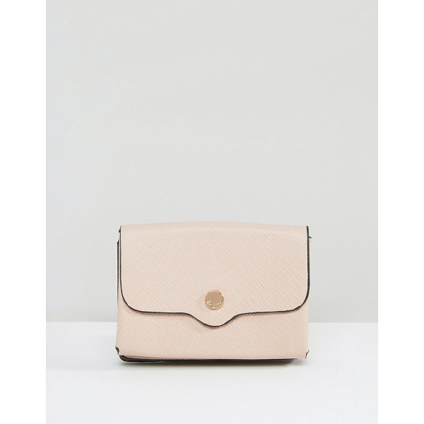 DUNE Exclusive Kimberly Purse in Blush Pink - Wallet by Dune, Textured faux-leather outer, Press-stud...