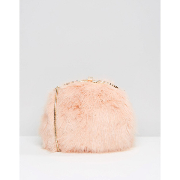 DUNE Faux Fur Cross Body Bag - Cart by Dune, Faux-fur outer, Fully lined, Gold-tone metal...