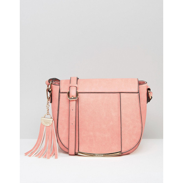 DUNE Smart Saddle Bag With Tassel Keychain - Cart by Dune, Faux-leather outer, Fully lined, Adjustable...
