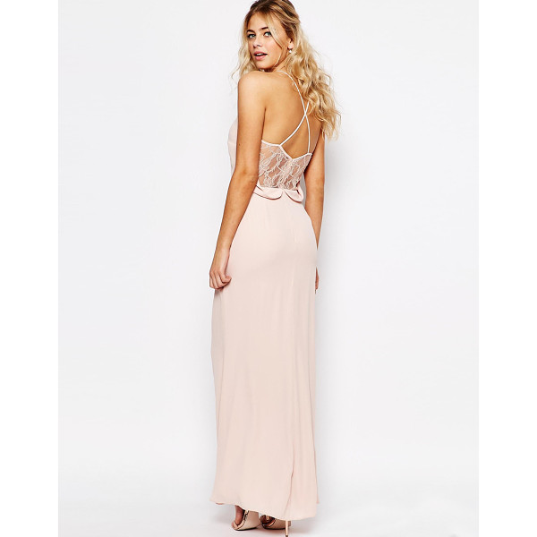 """ELISE RYAN Cami Strap Maxi Dress With Dipped Lace Back - """"""""Maxi dress by Elise Ryan, Lined woven fabric, V-neck,..."""
