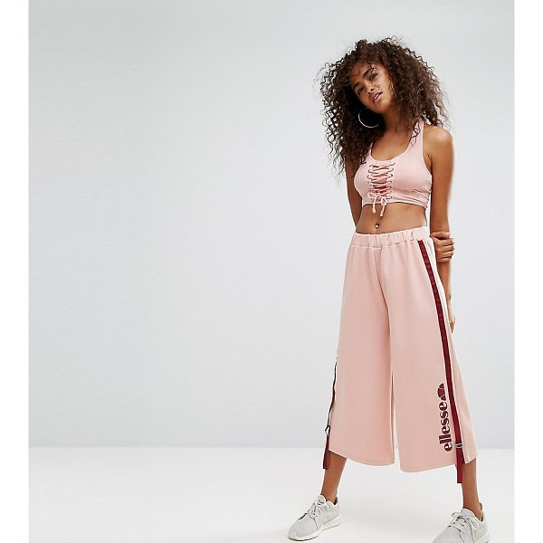 """ELLESSE Cropped Wide Leg Joggers With Side Pull Ties - """"""""Sweatpants by Ellesse, Soft-touch sweat, Stretch..."""