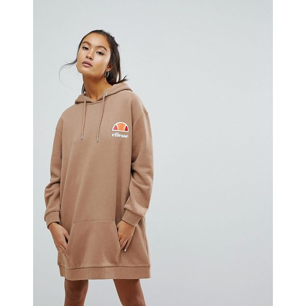ELLESSE Oversized Hoodie Dress With Washed Out Logo - Dress by ellesse, Drawstring hood, Dropped shoulders,...