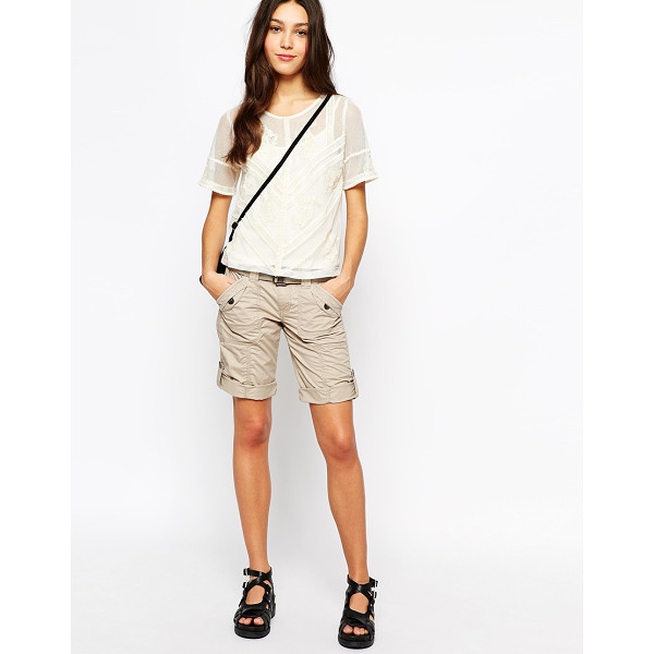ESPRIT Combat shorts - Shorts by Esprit Breathable, woven cotton fabric Zip fly,...