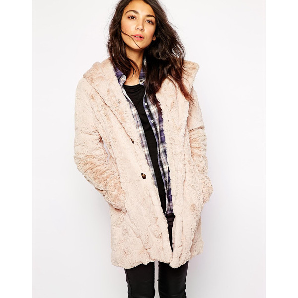 ESPRIT Faux fur hooded coat - Coat by Esprit Super soft-touch, fluffy fabric Silky-feel...