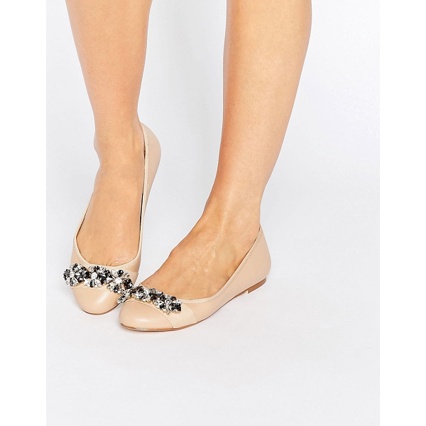 FAITH Annie Embellished Ballet Flat Shoes - Flat shoes by Faith, Faux-leather upper, Slip-on style,...