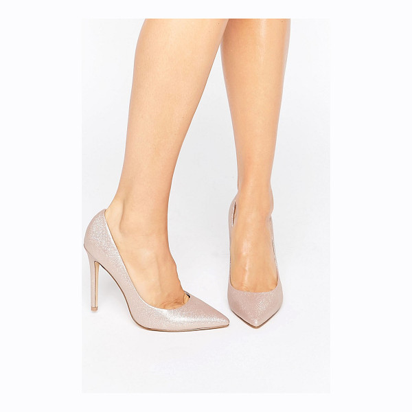 FAITH Chloe Shimmer Pumps - Heels by Faith, Shimmer-finished upper, Leather lining,...