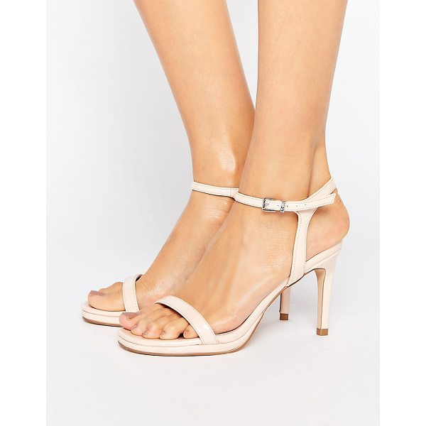FAITH Dolly Nude Heeled Sandals - Shoes by Faith, Faux-leather upper, Ankle-strap fastening,...