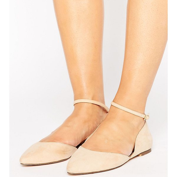 FAITH WIDE FIT Al Ankle Strap Flat Shoes - Flat shoes by Faith, Faux-suede upper, Real leather lining,...