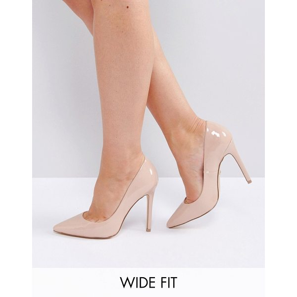 FAITH WIDE FIT Chloe Pumps - Heels by Faith, Patent upper, Slip-on style, Pointed toe,...