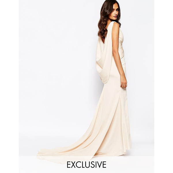 FAME AND PARTNERS Eternity maxi dress with low cowl back - Maxi dress by Fame and Partners Woven fabric V-plunge...