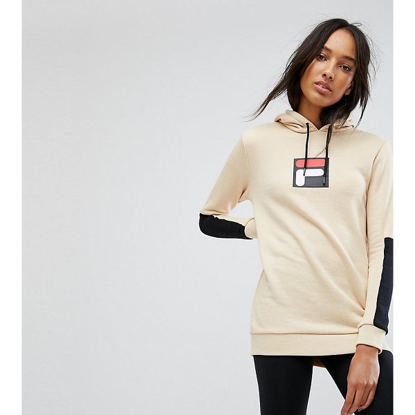 """FILA TALL Hoodie with Contrast Logo Detail - """"""""Tall top by Fila Tall, Soft-touch sweat, Drawstring hood,..."""