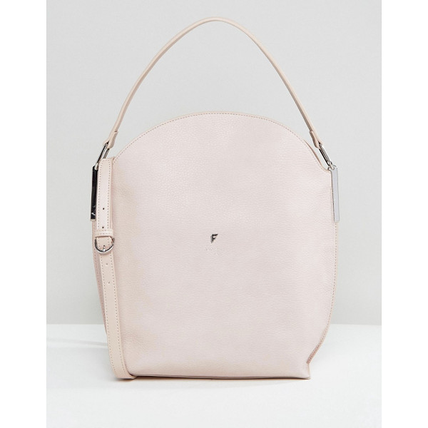 FIORELLI Hobo Slouch Cross Body Bag in Blush - Cart by Fiorelli, Textured faux leather, Branded lining,