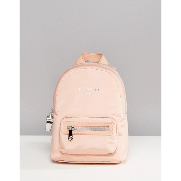 "FIORELLI Sport Strike Mini Nylon Backpack in Blush - """"Backpack by Fiorelli, Durable canvas outer, Branded..."