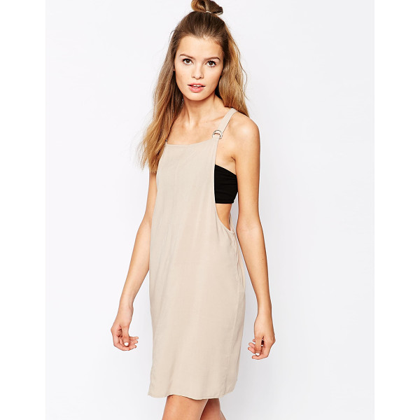 FIRST & I Buckle detail dress - Casual dress by First & I Lightweight woven fabric Pinafore...