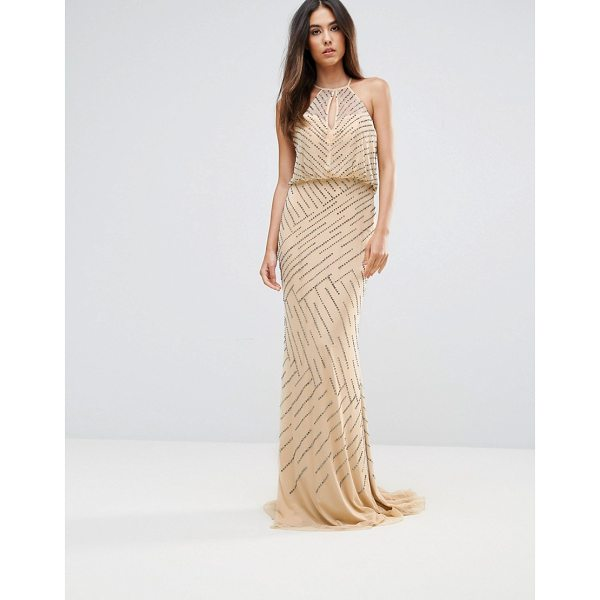 "FOREVER UNIQUE All Over Embellished Maxi Dress With Drape Back - """"Maxi dress by Forever Unique, Lightweight woven fabric,..."