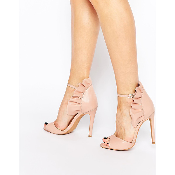 FOREVER UNIQUE Camden leather heeled sandals - Shoes by Forever Unique, Real leather upper, Frill detail...