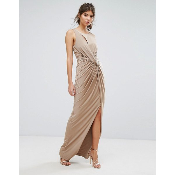 "FOREVER UNIQUE Wrap Thigh High Split Maxi Dress - """"Maxi dress by Forever Unique, Slinky stretch fabric,..."