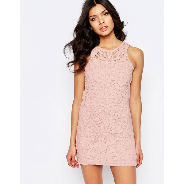 FOXIEDOX Monticello Lace Mini Dress - Dress by Foxiedox, Lined lace, Round neckline, Split back,...