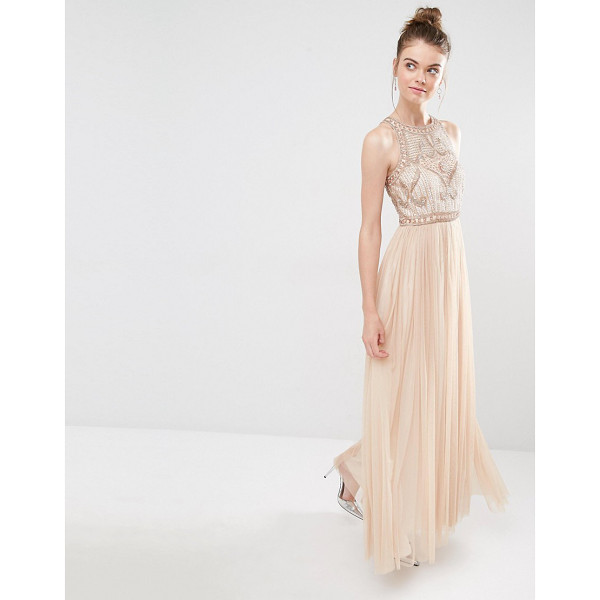 FROCK AND FRILL Tulle Maxi Dress With Embellished Bodice - Maxi dress by Frock and Frill, Embellished top, High...