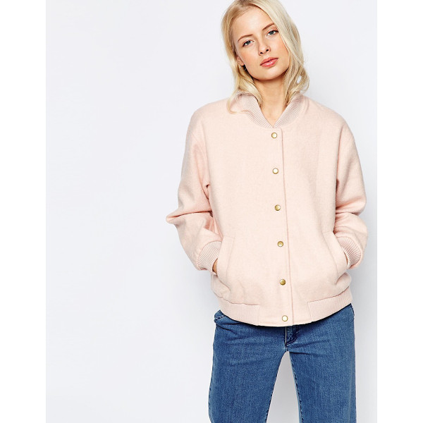 GANNI Inglewood Pink Bomber Jacket - Jacket by Ganni, Lightweight fluffy outer, Fully lined,...