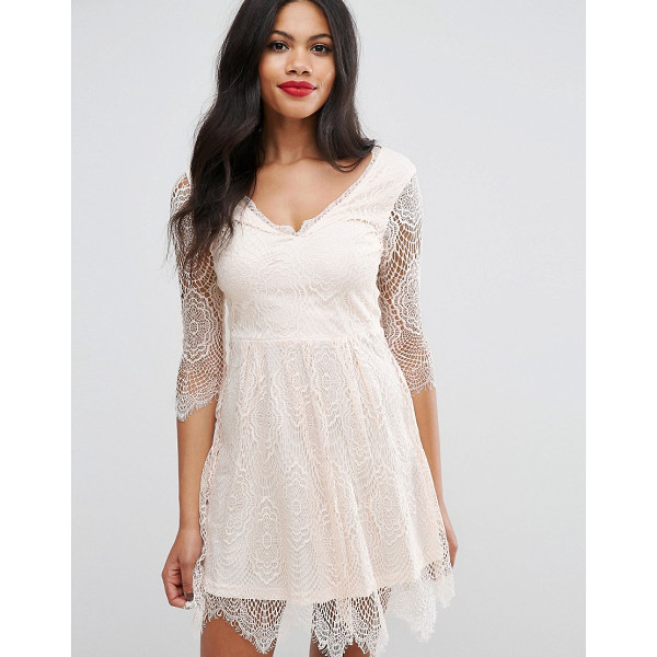 GIRLS ON FILM Girls On Film Lacey Skater Dress - Evening dress by Girls On Film, Sheer lace fabric,...