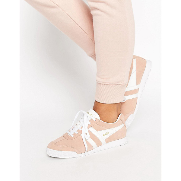 GOLA Harrier Blush Pink Sneakers - Sneakers by Gola, Suede upper, Lace-up design, Branded...