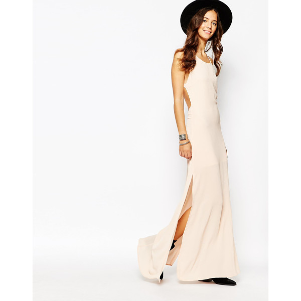 GOLDIE Bliss maxi dress with strap detail - Maxi dress by Goldie Lightweight crepe Round neckline Open...