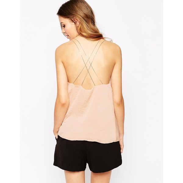 GOLDIE New rules cami top with chain straps - Top by Goldie Lightweight woven fabric Lightly textured...
