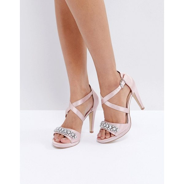 """HEAD OVER HEELS by Dune Maisy Embellished Heeled Sandals - """"""""Sandals by Head Over Heels by Dune, Textile upper,..."""