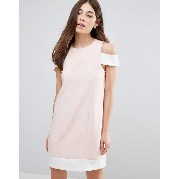 "HEDONIA Cut Out Shoulder Shift Dress - """"Dress by Hedonia, Woven fabric, Round neck, Cold-shoulder..."