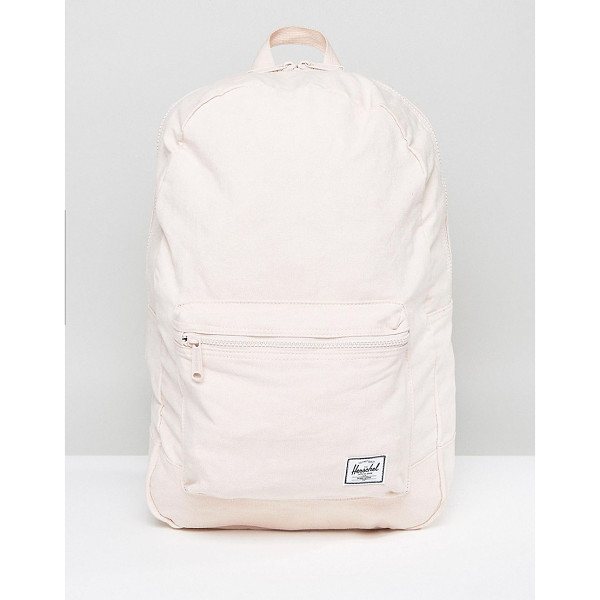 HERSCHEL SUPPLY CO . Daypack in Pale Pink - Backpack by Herschel Supply Co, Durable canvas outer,