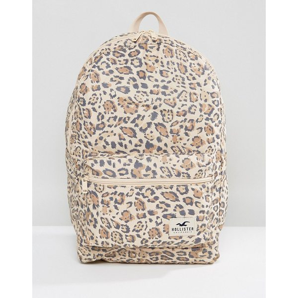 HOLLISTER Core Canvas Backpack - Backpack by Hollister, Durable canvas outer, Leopard print,...